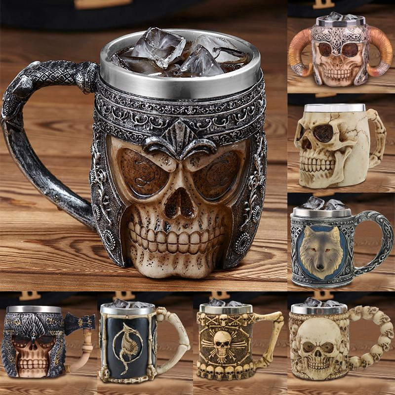 2019 New Style 3D skull shape Cup Game of thrones Coffee Beer Cup Mug 13oz Best Gift For Boyfriend Y200106