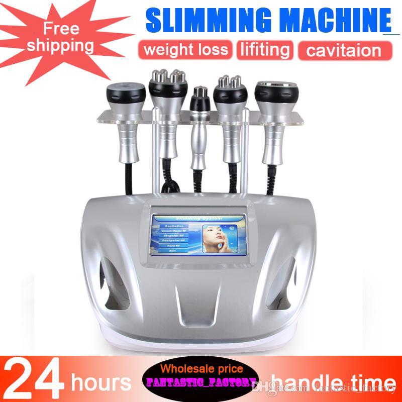 Máquina portátil cavitación ultrasónica tripolar del vacío cavitación RF máquina delgada piel firme pérdida de peso elevación del cuerpo de equipo de la belleza con CE