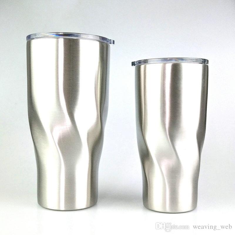 Taza de vaso de acero inoxidable de 20 oz Taza de viaje Café aislado Cerveza Té Taza de agua para playa al aire libre Viaje en coche Tapa a prueba de fugas puede personalizar
