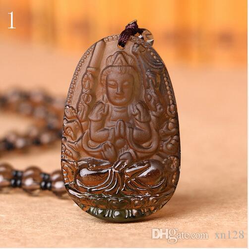 Großhandel Eröffnung acht Schutzgott Eis Arten Obsidian Buddha Leben Männer und Frauen Modelle Anhänger 12 Tierkreis Anhänger Anhänger