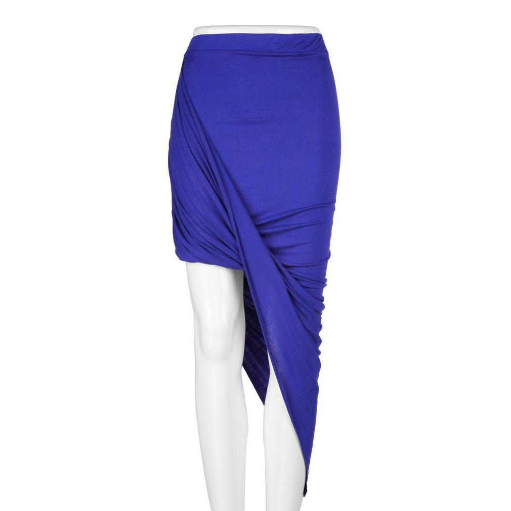 Slim Fit Draped Sexy Dress Asymmetrical High Waisted Stretch Bodycon Low Mini Maxi Skirts For Evening Party Club