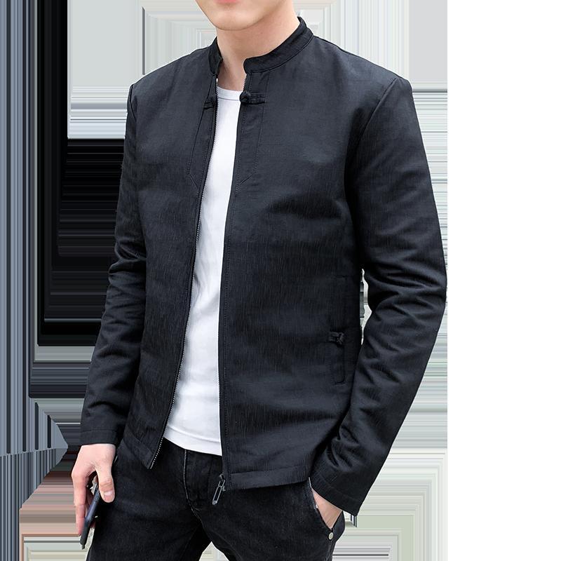 2019 Yeni moda Beyzbol Yüksek Kaliteli adamın Ceket Eğlence Ince Gençler Siyah Gri Erkek Ceket Artı Boyutu 4XL JK6609