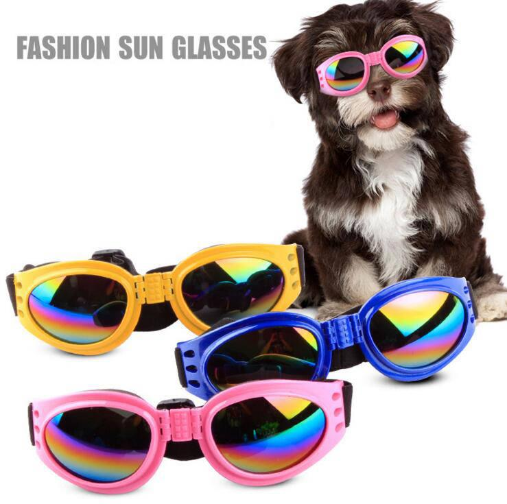 Dog Glasses Folding Candy color Sunglasses Medium Large Dog Glasses Waterproof Eye wear Protection Goggles UV Sunglasses Pet Supplies CLS245