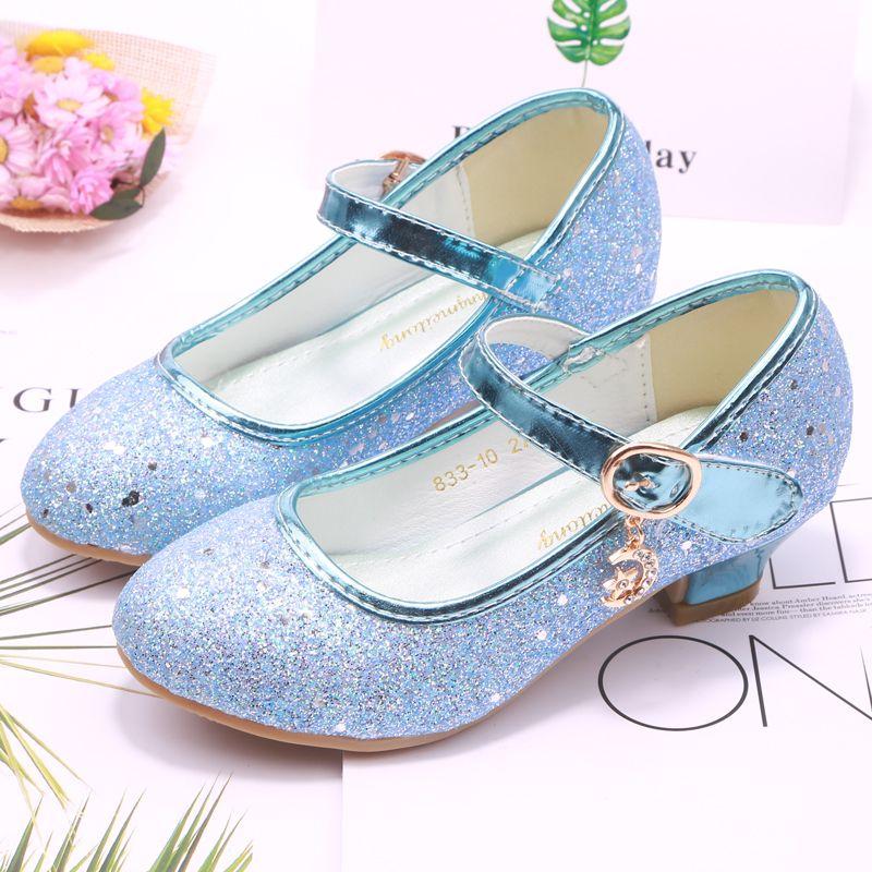 sapatos princesa meninas das ULKNN crianças sandálias de salto alto crianças roxas sapatos de cristal cintilante CX200724 casamento banquete dança