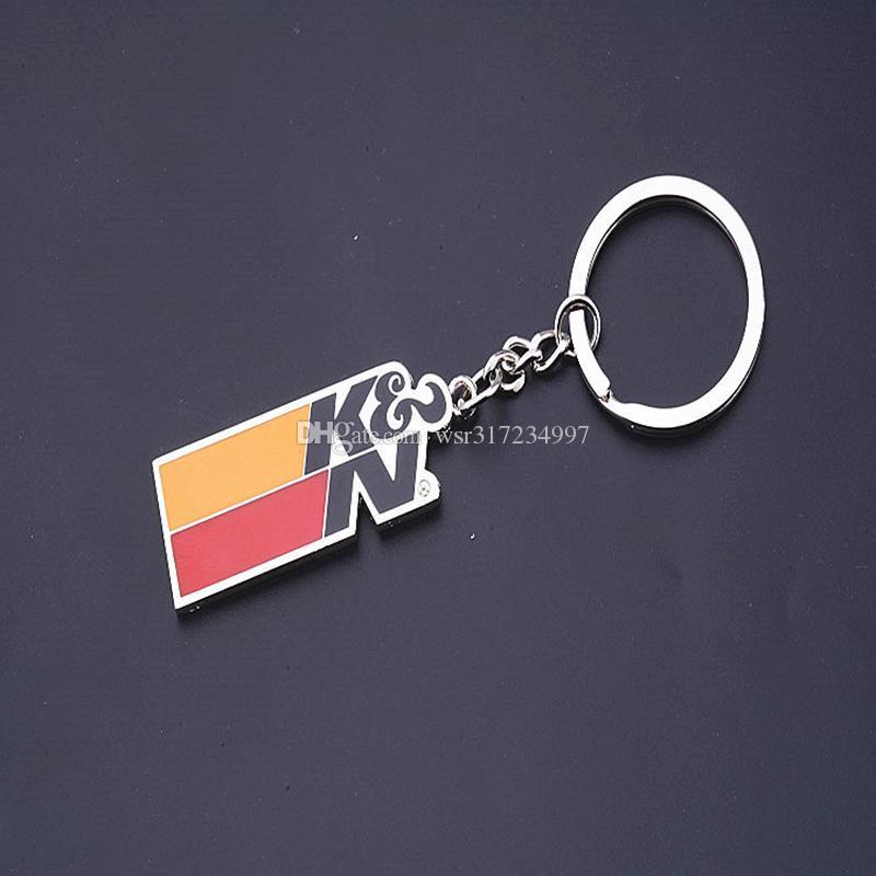 3D Car Logo Keychain Key Chain Turbo K&N Keyring Key Ring Chaveiro Llavero For BMW Audi VW Ford Toyota Honda Car-Styling