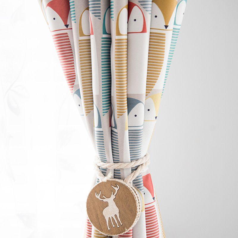 Spot tissu fabricant vend directement Moderne Simple enfants de chambre rideaux noir soie ombrage impression rideau tissu
