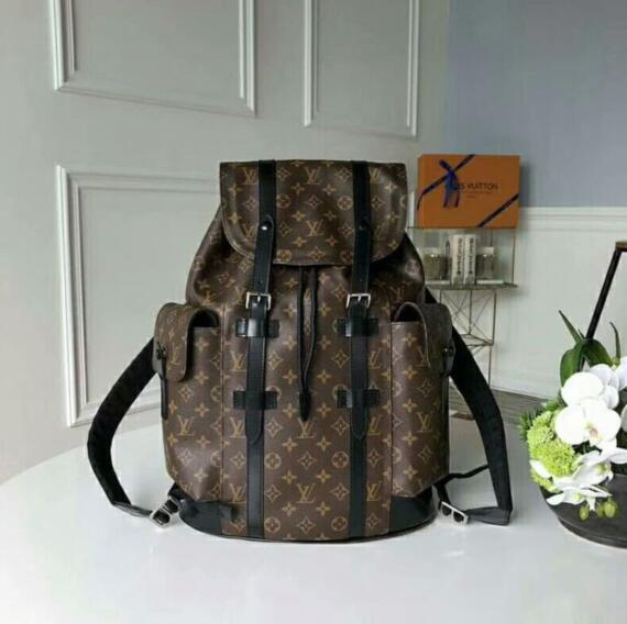 825cc1d7b 1fLOUIS VUITTON CHRISTOPHER Backpack Men Leather Handbags Brand MICHAEL 00  KOR Travel Women GUC CI Shoulder