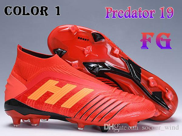 e21f3fda220768 Großhandel Kinder High Ankle Fußballschuhe Youth Predator 19+ Firm Ground  ZIDANE BECKHAM Fußballschuh Men Women Predator 19 FG X Pogba ...
