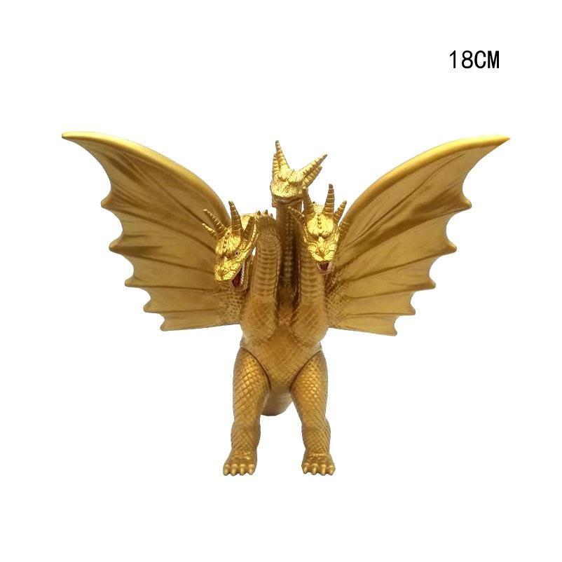 18cm Gogira Gomora 2 Canavar Kral Üç başlı ejderha Kral Golden Dragon El Doll Modeli