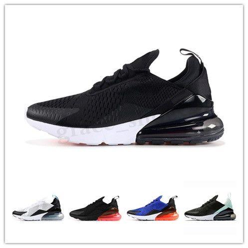 NIKE Air max 270 2020 NOVO 27 Homens Mulheres Running Shoes Formadores Racet Sports Trainers 27c Beture Triplo Black White Grey Designer esportes sapatilhas 36-45 PP03