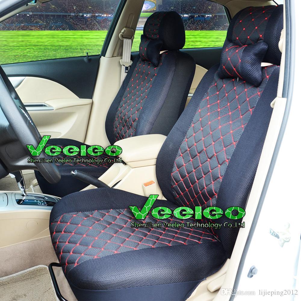 Veeleo universal tampa de assento para TOYOTA Corolla Camry Rav4 Auris Prius Yaris Avensis com seda Meterial + logotipo + atacado + frete grátis