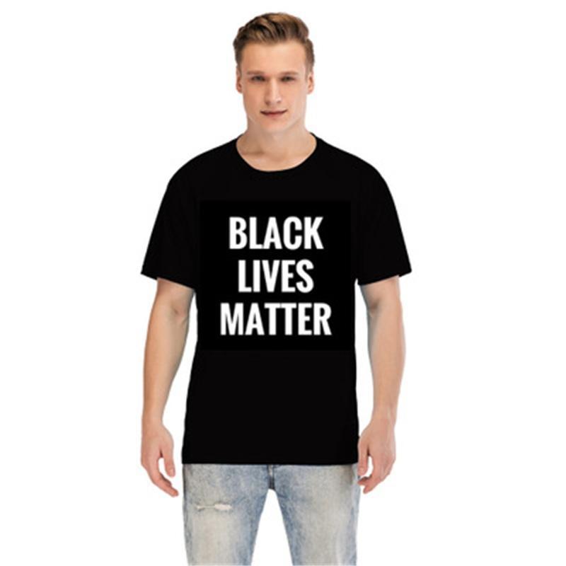 Preto Vidas importa! Sleeve Verão Tops Tamanho Camisetas Adolescente Mens Casual Além disso Mens Designer listrado camisetas Moda Curto # 62268