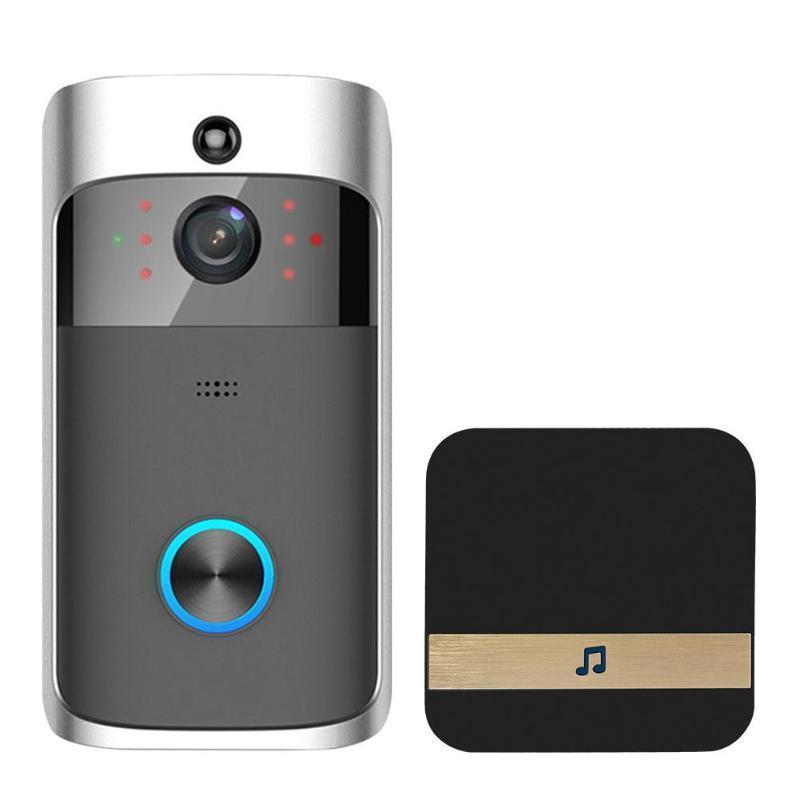 Görüntülü Kapı Bell WIFI HD su geçirmez 720P Görsel Kamera + 1 Adet Dingdong için IOS Gece Görüş IR İnterkom Kapı Yüzük Telefon Güvenlik