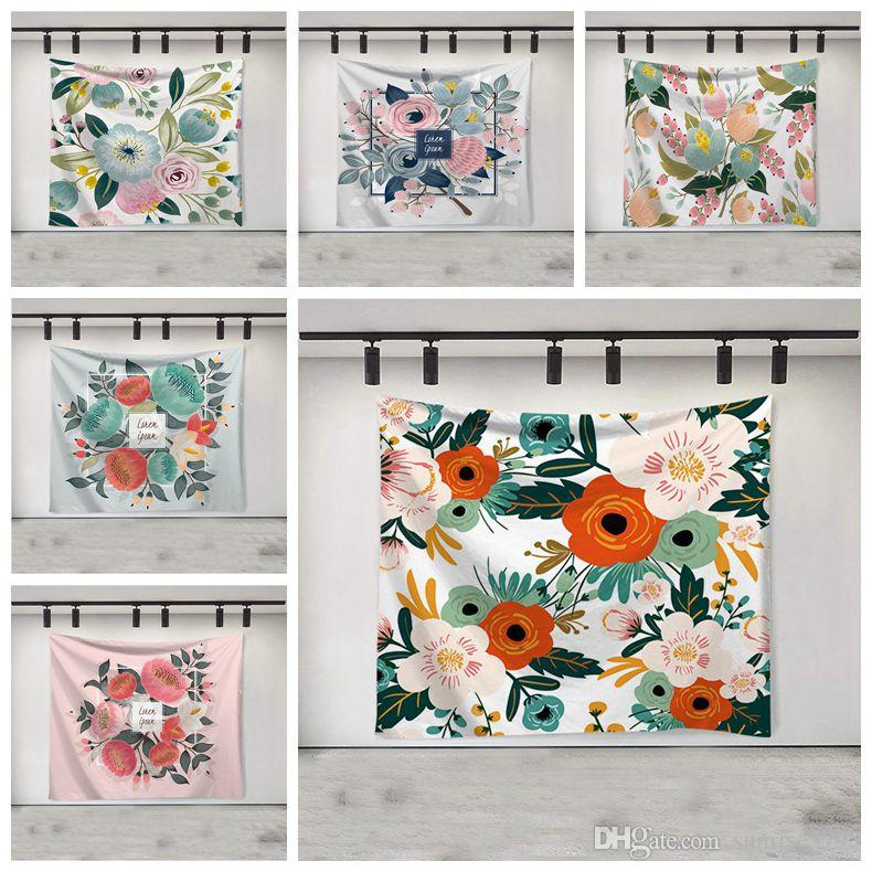 decorative flower tapestry spring butterfly wall hanging decoration dorm farmhouse decor nature tenture mural polyester tapiz