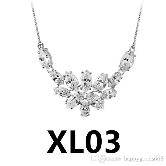XL03-XL22 nouveau Collier vintage de femmes fantaisie avec pendentif, cadeau de Noël