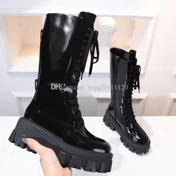 Fashion luxury designer women shoes winter boots cowboy Martin Ankle black talon ladies Stage flat heel Snow Boots