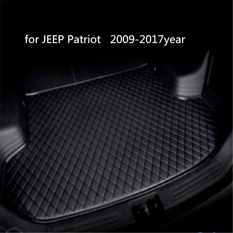 Настраиваемые противоскользящие кожаные багажнике автомобиля коврик Коврик подходит для джип Патриот 2009-2017year противоскольжения циновка автомобиля