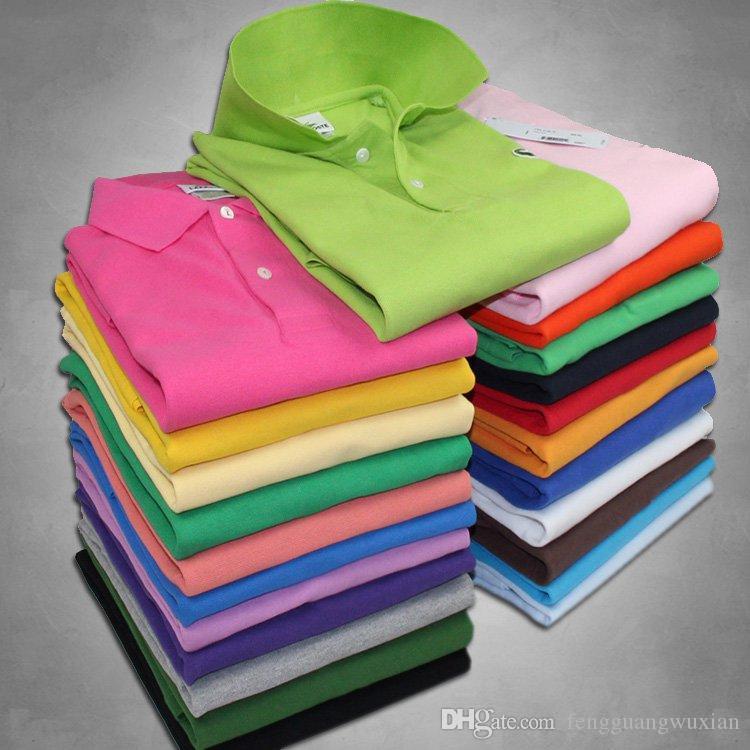 Alta calidad cocodrilo polo camisa de los hombres sólidos pantalones cortos de algodón del verano del polo Casual Polo Homme T-camisas para hombre camisas de polos Poloshirt FG01