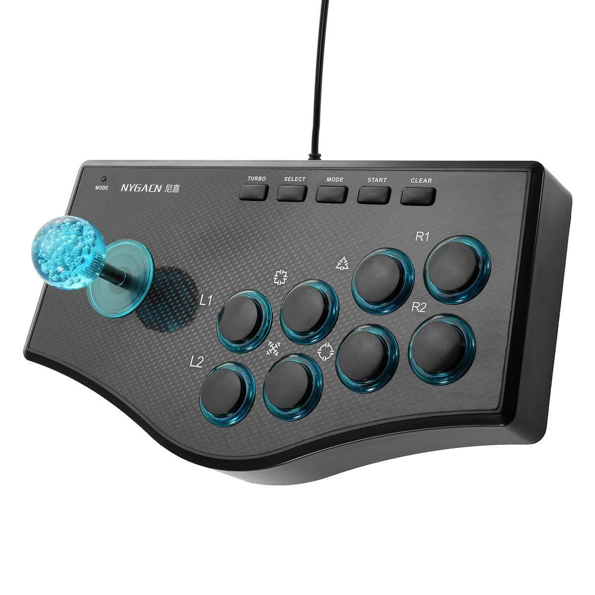 USB Rocker Game Controller Arcade Joystick Gamepad Fighting Stick für PS3 / PC für Android Plug-and-Play-Straße Kämpfen Gefühl