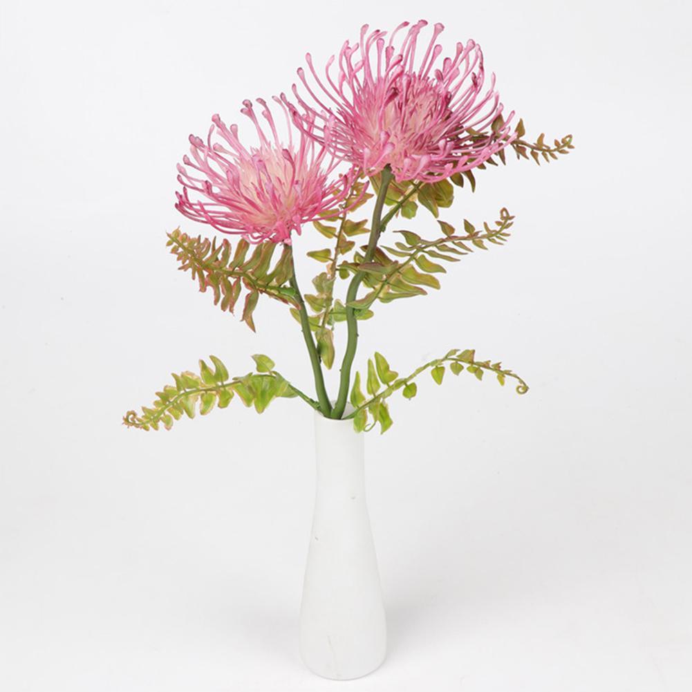 Künstliche Pin Cushion Blume Chrysantheme-Blumen-Branchartificial Kunststoff Quallen Gras Home Hotel Tabelle Diy Decor
