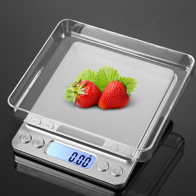 Upgrated Usb Powered Kitchen Scale 500g 0.01g Stainless Steel Precision Jewelry Weighing Balance Electronic Food Scale