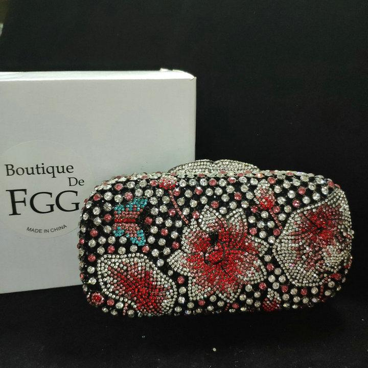 Clearance Sales! !STOCK!! Elegant Women Crystal Clutch Evening Bag Wedding Party Cocktail Diamond Handbags and Purses