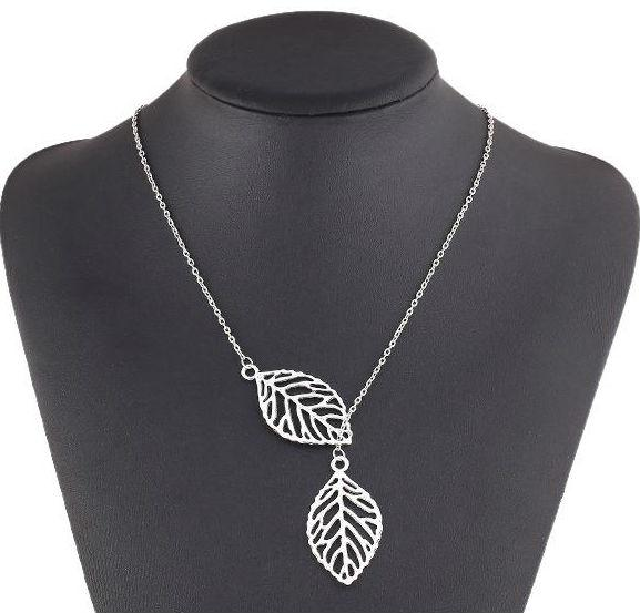 Necklaces Pendants 925 Silver Plated Leaves Pendant Necklaces Valentine's Day Gift Fashion Korean Jewelry Silver Cheap Long Chains Neck
