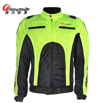 Equitação Tribo Verão motociclismo Casacos Motocross de proteção engrenagem respirável revestimento roupa preto / verde