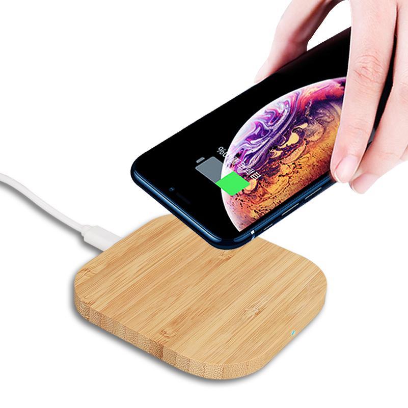Moda Wireless Charger Slim legno Charging Pad per IPhone 11 Pro X 8 Inoltre Xiaomi 9 Smart Phone Caricabatterie per il Samsung S9 S8 S10 Più