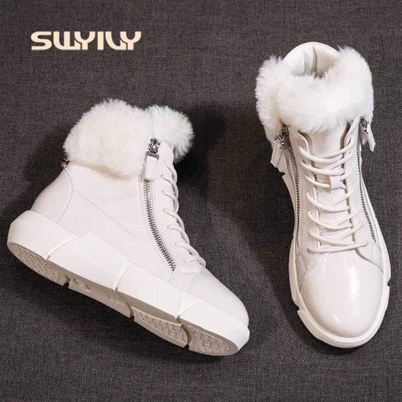 vendita all'ingrosso di inverno delle donne della caviglia stivali da neve impermeabili 2019 Scarpe luce calda nuova Ins femminile cotone piattaforma di modo di pelliccia della neve degli stivali della caviglia
