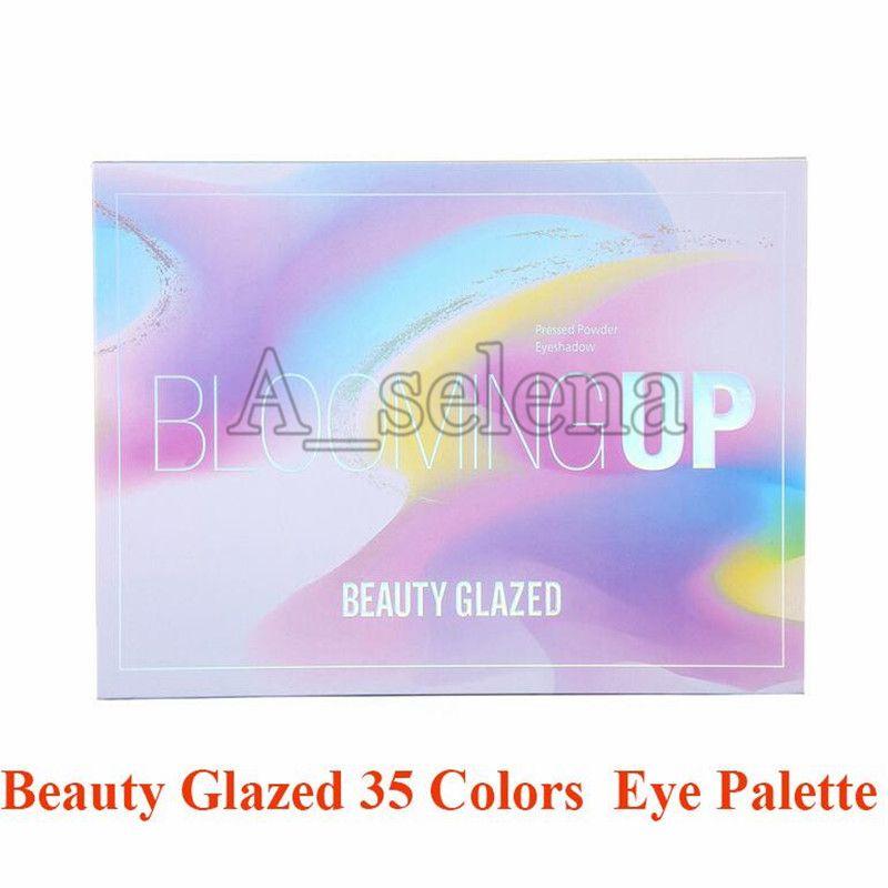 Güzellik Camlı Blooming Yukarı Yüksek Kalite ile Toz Göz Farı 35 Renkler Işıltılı Mat Göz Farı Paleti Pressed
