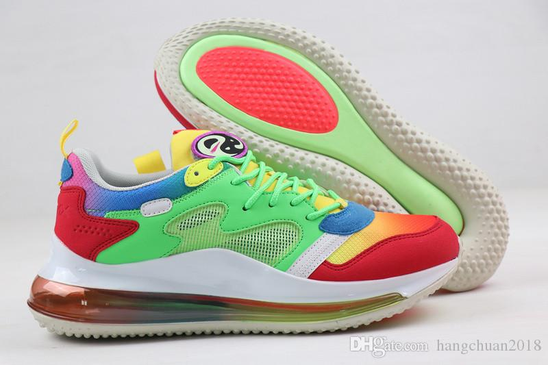 2020 Scarpe da corsa traspiranti per donne degli uomini di mare Foresta verde fluorescente Platinum Tie Dye essere vero Tramonto Sport Sneakers Trainers