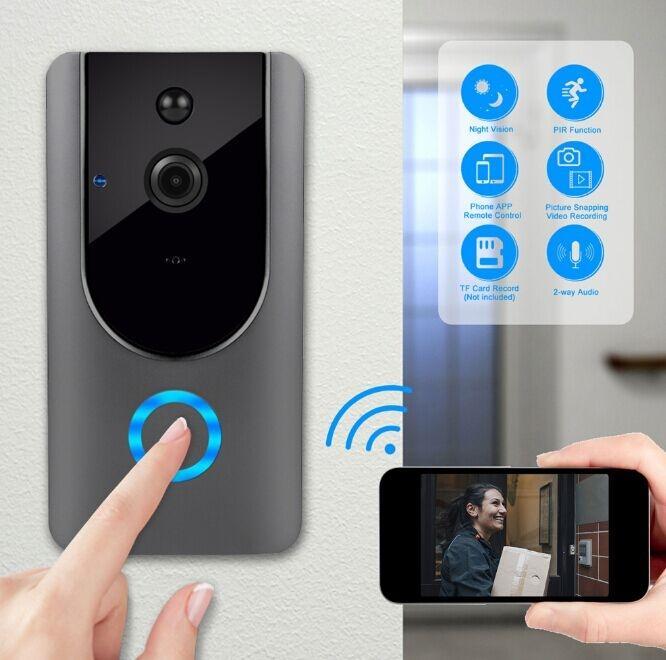 بطارية لاسلكية تعمل بالطاقة الذكية جرس الباب الذكية فيديو جرس الباب