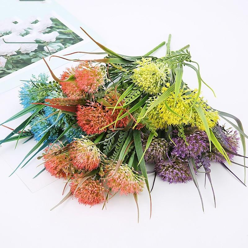 Artificial Flower Home Decor Semi Mechanical Flowers Dandelion Opp Packing Reusable Bouquet Universal With Different Color 3 2ql J1