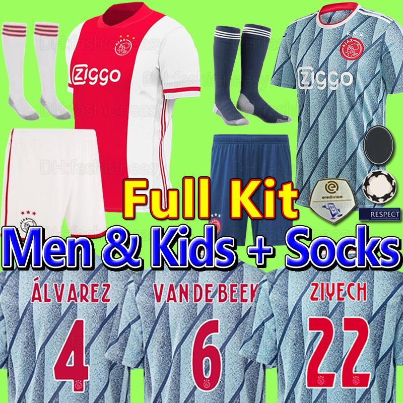 20 21 Ajax Amsterdam FC camisas camiseta de fútbol 2020 hombres 2021 PROMES TADIC neres ZIYECH van Beek + niños equipos de fútbol uniformes maillot de distancia chandal