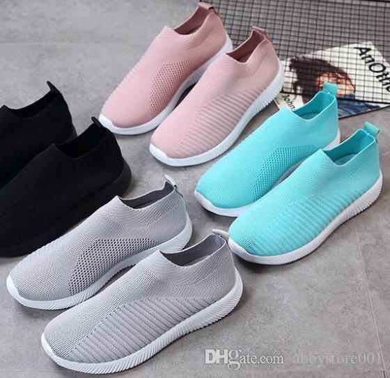 0723 A5 Classic Atmungsaktives Mesh Freizeitschuhe Frühling Sommer Herren Damen Freizeitschuhe Mode Slip on Flats Schuhe mit Box