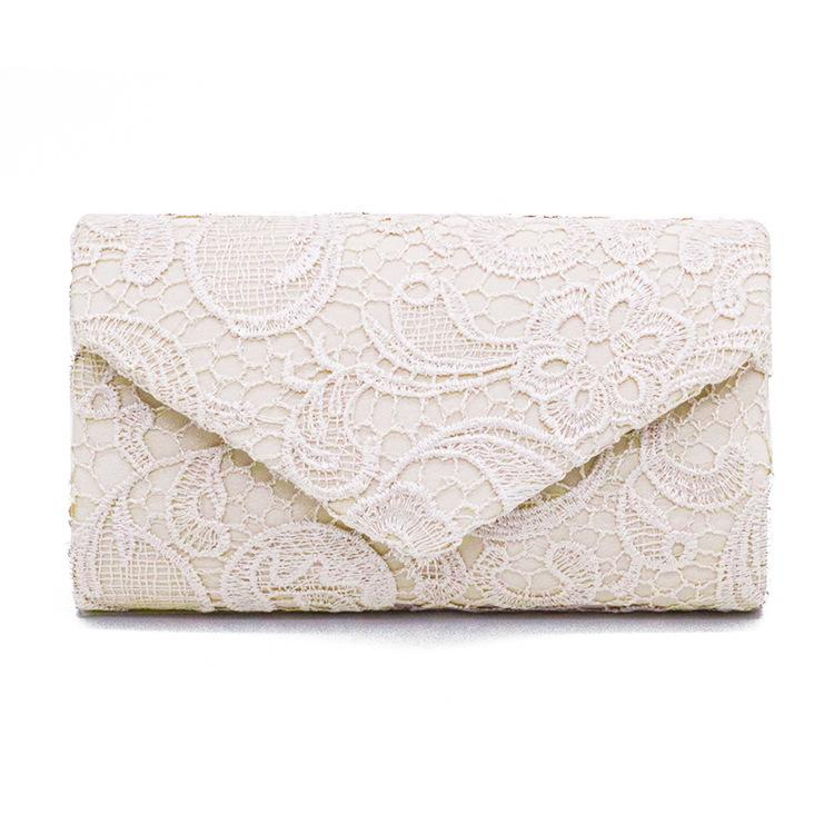 IMIDO New Fashion Ladies Women Floral Lace Evening Party Women Clutch Bag Bridal Wedding Purse Handbag Envelope