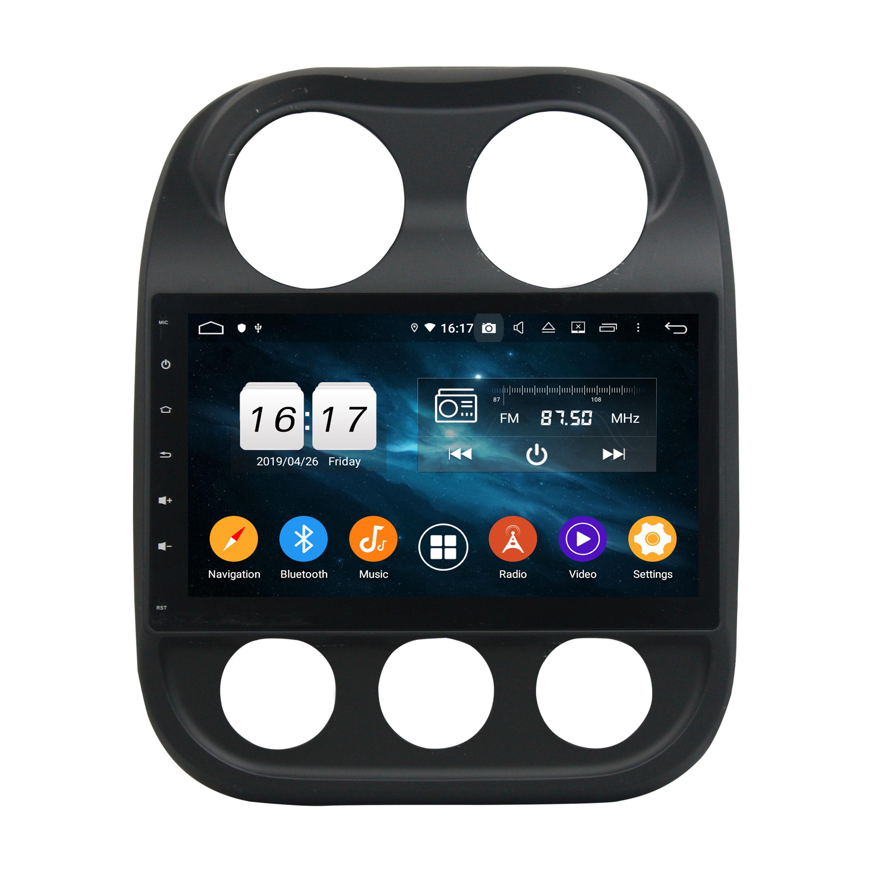 HD de 10,1 pulgadas Core 8 PX5 Android 9.0 4G de DVD del coche de la unidad principal de radio por un Jeep Compass 2014 -2015