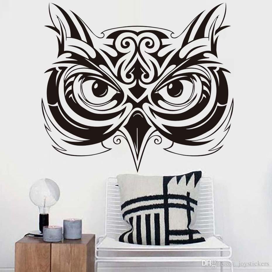 Art Owl Removable Sticker for Bikes