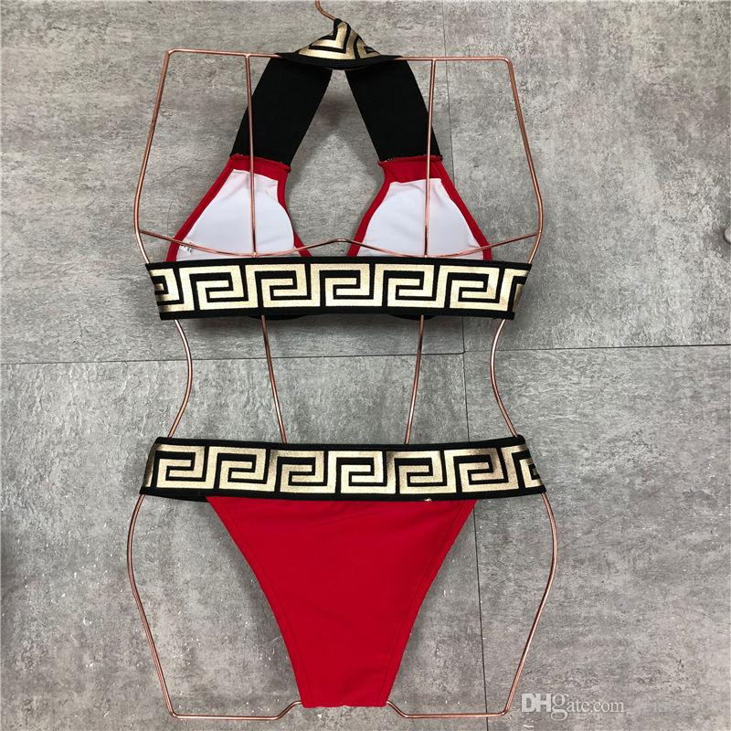 2020 di alta qualità del progettista signore della spiaggia di estate Un insieme biancheria intima del bikini Swimwear delle donne Costume da bagno sexy costumi da bagno un pezzo sexy costumi da bagno