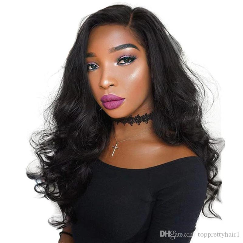 Full Lace Human Hair Wigs Cheap Preplucked Virgin Peruvian Hair Glueless Body Wave Lace Front Wig With Baby Hair For Black Women