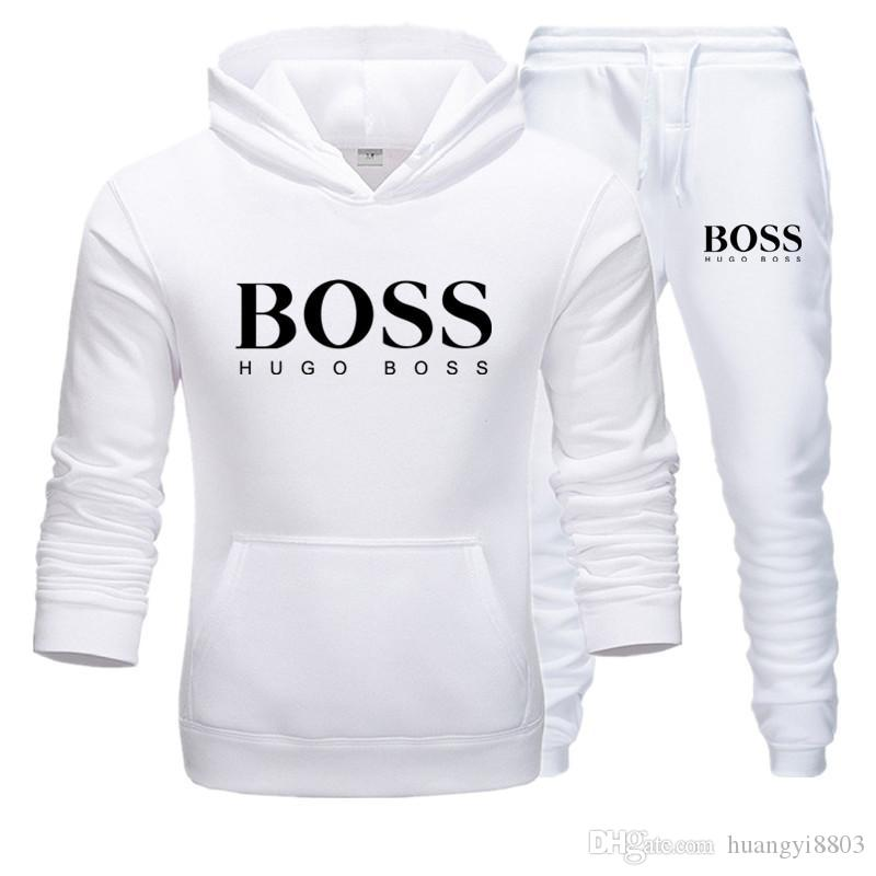 Hugo Boss Men/'s Sport TrackSuit Zip Up Sweatshirt Jacket /& Pants Set Black