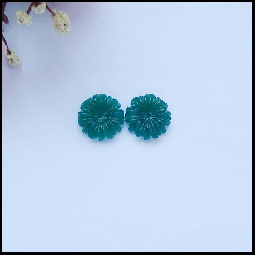 Natural Gemstone Green Agate fashion women Earring Bead,16x4mm,3.04g