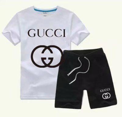 2020 горячие мальчики и девочки продажи бренда спортивной одежды весна осень дети с короткими рукавами футболка + шорты костюм TTTT