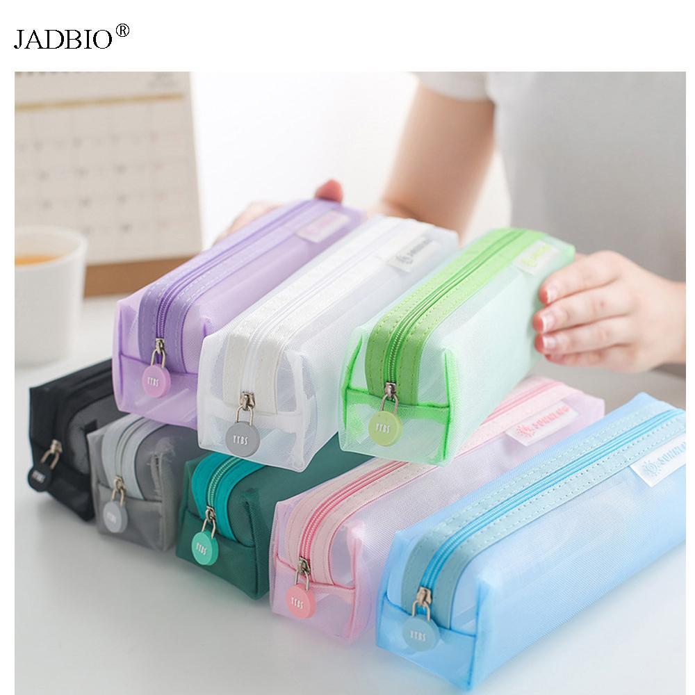 20pcs/lot wholesale lot pencil case mesh nylon pen pouch bag pencil organizer Bag Box Stationery School Supplier Best price