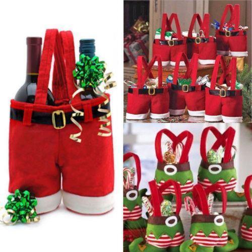 XMAS Festa di Natale Babbo Natale Pantaloni Busta regalo Elf Boots Candy Bag Aggiungi Ambienti in festa NUOVO Natale Home Decor