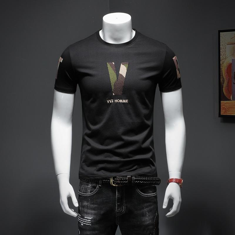 NUEVO del diseñador de la camiseta del verano con la letra de montaña de nieve Hombres Tops Ropa casual de cuello redondo de lujo de las mujeres de manga corta negro camiseta