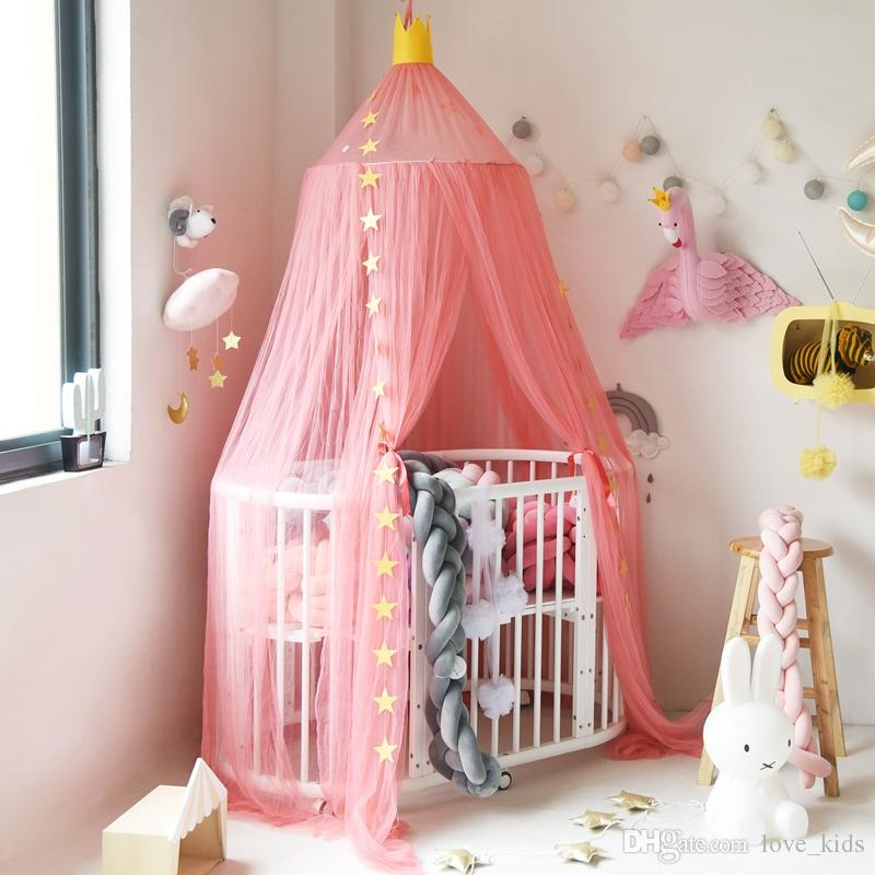 Kids Teepee Tents Children Play House Cotton Bed Tent Canopy