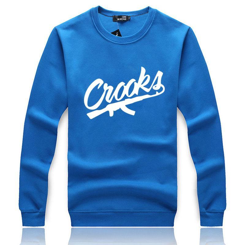 Moda sonbahar kış Hoodie Kalın Hoody Crooks Erkekler Rahat Spor siyah beyaz hip hop Tişörtü Erkekler Artı Boyutu M-2XL 2cs / lot