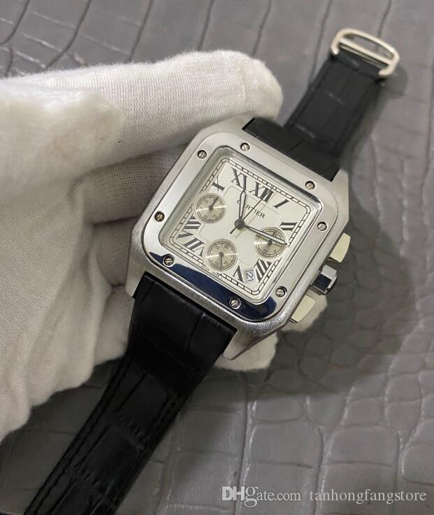 relogio masculino 캘린더 팔찌 폴딩 버클 나비 남성 남성 시계 전체 기능 시계 패션 블랙 다이얼 망